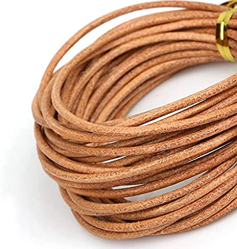 5M Leather Round Rope String Cord Bracelet Necklace DIY Jewelry Making Acc