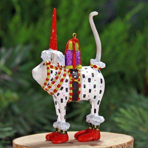 Mini Ornament Cat Christmas (Patience Brewster Mini Pat Santa Hat Cat Christmas Ornament 08-30585)