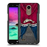 Official HBO Game Of Thrones Tully Sigil Flags Black Soft Gel Case for LG K10 (2017) / K20 Plus