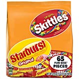 Skittles & Starburst Original Halloween Candy Bag, 65pc Fun Size, 31oz Deal (Small Image)