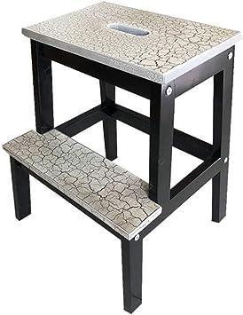 QGQ Fácil y multifuncional plegable conveniente taburete, Taburete Escalera 2 escalones de madera, para trabajo pesado de heces para adultos de los niños, huerta de baño, antideslizante banquetas,Neg: Amazon.es: Bricolaje y herramientas