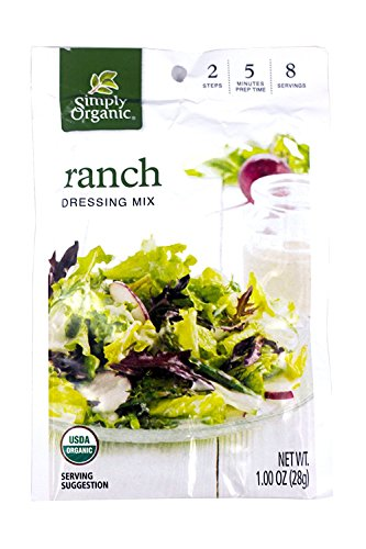 Simply Organic Ranch Salad Dressing Mix, 1 Ounce -- 12 per case. Simply Organic Ranch