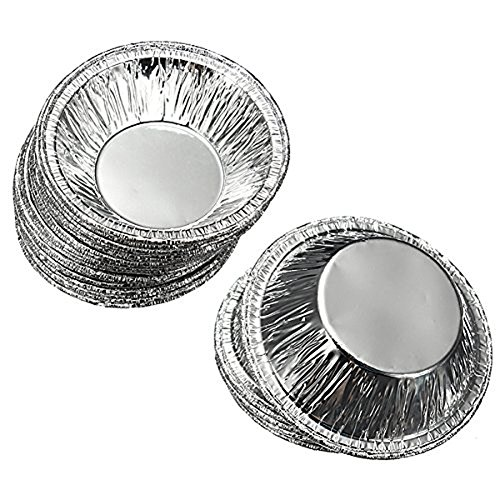 Goege 250 Pcs Disposable Aluminum Foil Cups Baking Bake Muffin Cupcake Tin Mold Round Egg Tart Tins Mold Mould