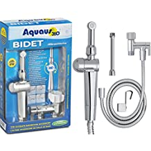 RinseWorks - Aquaus 360 Hand Held Bidet Sprayer for Toilet – Shattaf - NSF Tested & Certified – 3 Year Warranty – Dual Thumb Pressure Controls - Ceramic Disk Seals - Extended Spray Reach