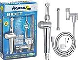 Toilet with Bidet Aquaus 360 Bidet Sprayer for Toilet - NSF Certified - 3 Year Warranty - Made in USA  Dual Thumb Pressure Controls - Ceramic Disk Seals / Premium Hand Held Bidet  International Patent Pending
