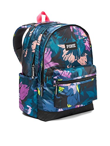 249c586fbe Victorias Secret Pink Campus Backpack Black Floral Print 2017