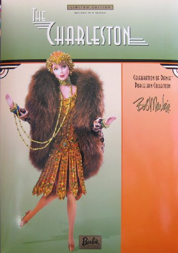 Barbie The Charleston Porcelain Doll Bob Mackie 2nd in Series Celebration of Dance Limited Edition w Shipper (2000) (Display Shipper)