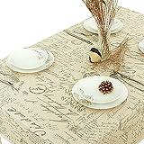 """NiSeng Alphabet Print Tablecloths Rectangle Washable Cotton Linen Dinner Living Table Linens 55""""x87"""""""