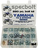 250pc Specbolt Bolt Kit for Yamaha YZ 80 85 125 250. For Maintenance Upkeep and partial Restoration. OEM Spec Fasteners YZ80 YZ85 YZ125 YZ250