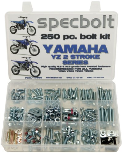 250pc Specbolt Bolt Kit for Yamaha YZ 80 85 125 250. For Maintenance Upkeep and partial Restoration. OEM Spec Fasteners YZ80 YZ85 YZ125 YZ250 - Levers Bolt Kit