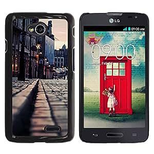 iKiki Tech / Estuche rígido - Medievil City - LG Optimus L70