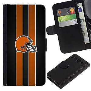 Casco de fútbol americano - la tarjeta de Crédito Slots PU Funda de cuero Monedero caso cubierta de piel Para Samsung Galaxy S3 III i9300 i747
