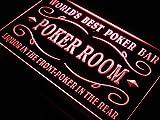 Best Poker Room Liquor Bar Beer LED Sign Neon Light Sign Display s143-r(c)
