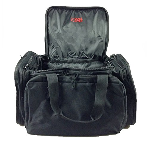Osage River Tactical Shooting Gun Range Bag, Black , Light Duty (13.5 x 10.5 x 7.5) Inches