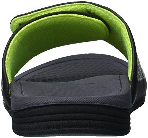 Ny Balans Mens Cush + Slide Sandal Svart / Grön