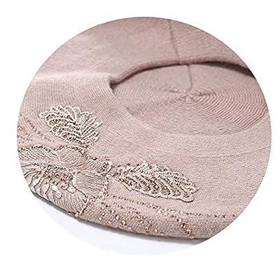 Bonnet Femme Women Beret Cotton Wool Knitted Fashion Flower Autumn New Winter Hats for Women Ca