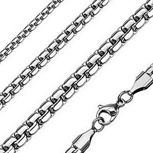 Chaine double liens en acier inoxydable 316L Dimension : 56 cm x 4 mm