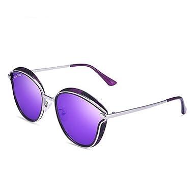 Damen Sonnenbrillen Mode Sonnenbrillen Polarisierte Sonnenbrillen Outdoor Sonnenbrillen Farbe Sonnenbrillen Große Rahmen Brillen,Purple