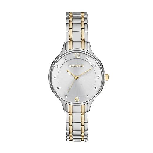 Skagen Primavera 2015 skw2321 30 mm Plateado Acero Pulsera y Caso Mineral Reloj de Pulsera de Mujer: Skagen: Amazon.es: Relojes