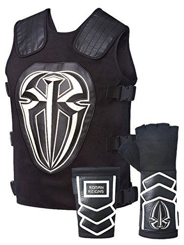 Roman Reigns Tactical Replica Vest Superman Punch Glove Costume-White by WWE Authentic