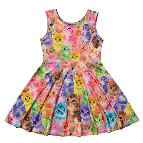 db0e119ce Jxstar Cat Party Supplies Girls Dresses Size 6 Little Girl Dress Girls  Clothes Size 7 Elementary