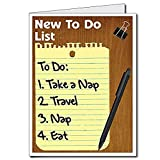 VictoryStore Jumbo Greeting Cards: Giant Retirement Card (To Do List), 2' x 3' Card with Envelope
