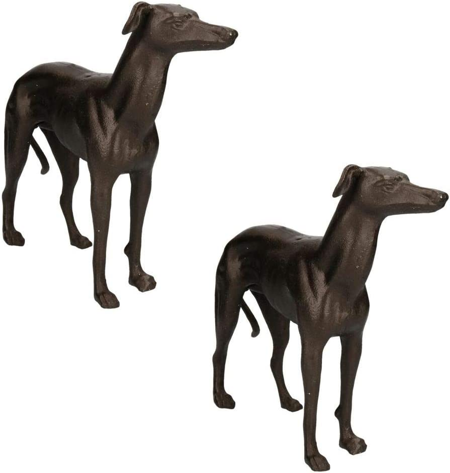 Greyhound Whippet Dog Bust Head Statue Fireplace Ornament Book End Castiron