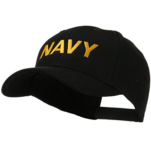 dfc078d7983 Embroidered Military Cap - Navy OSFM at Amazon Men s Clothing store ...
