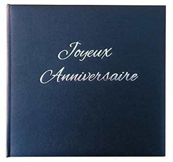 Livre D Or Joyeux Anniversaire Noir Fabrique En France Amazon Fr