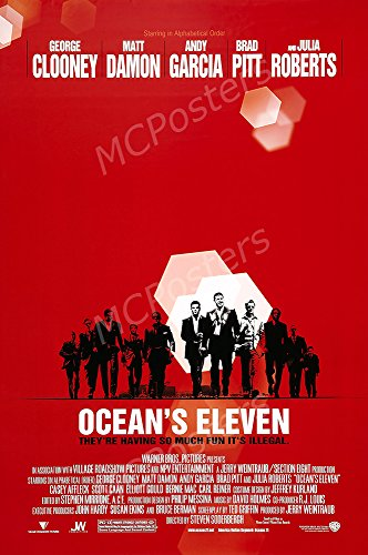 MCPosters Ocean's Eleven GLOSSY FINISH Movie Poster - MCP432 (24