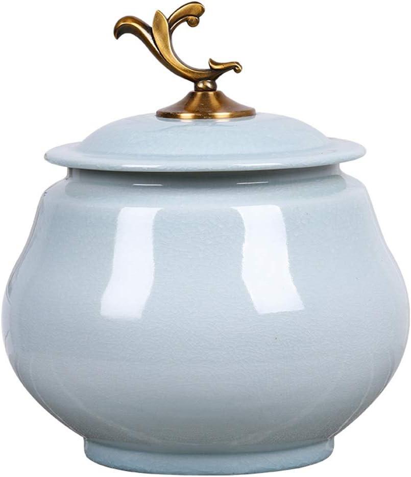 保存容器 セラミックライスシリンダー 密閉貯蔵タンク 家庭用ライスバレル ライスシリンダー ライスバレル ライス収納ボックス 防虫 安全で美しい (Color : Blue, Size : 27*34cm)