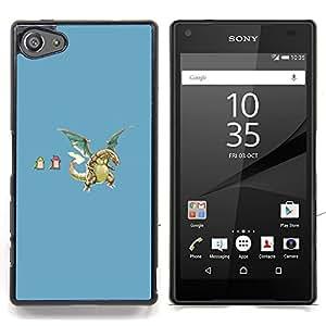 """Qstar Arte & diseño plástico duro Fundas Cover Cubre Hard Case Cover para Sony Xperia Z5 Compact Z5 Mini (Not for Normal Z5) (P0Kemons divertidos"""")"""