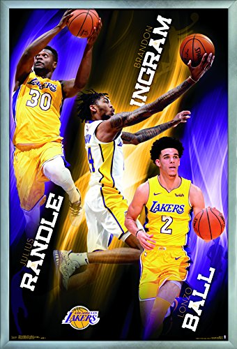 Poster Los Angeles Lakers Basketball - Trends International Los Angeles Lakers-Team Wall Poster, 24.25