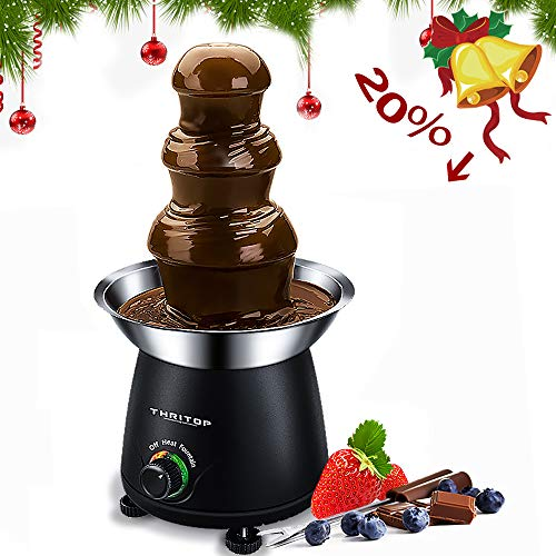 THRITOP Chocolate Pro Fountain,3-Tier Stainless Steel Tower Chocolate Fondue, Fountain kit 11