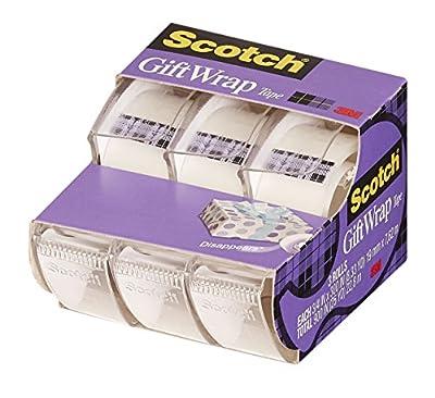 Scotch Gift Wrap Tape, 0.75 x 300 Inch, 3 Count (311) by Scotch Brand