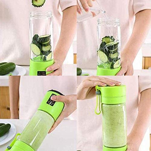 Portable Electric Automatic Juicer Fruit Extractor Juice Blender Mixer Bottle USB Rechargeable 6-Blade JC533