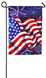 Evergreen 4th of July Flag Satin Garden Flag, 12.5 x 18 inches