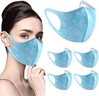1pc Unisex Breathable Washable Reusable Dustproof Anti-spitting Fabric Protect Face Balaclava for Women Men