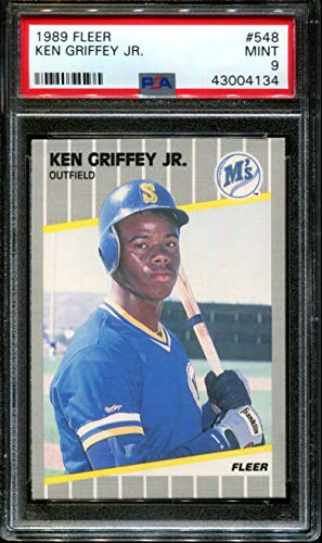 1989 FLEER #548 KEN GRIFFEY JR. RC HOF PSA 9 B2689037-134