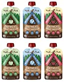 Munk Pack Oatmeal Fruit Squeeze | Variety | Ready-to-Eat Oatmeal | On The Go Breakfast | No Added Sugar, Vegan, Gluten Free, Dairy Free | 4.2oz, 6-Pack