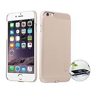 iPhone 6 / 6s Plus Qi Receptor, Nillkin Ultra Slim Receptor de carga inalámbrica Funda de teléfono Fuerte Funda magnética para Cargador de coche Retroproyección para Apple iPhone 6 / 6s Plus 5.5 Pulgadas, Oro
