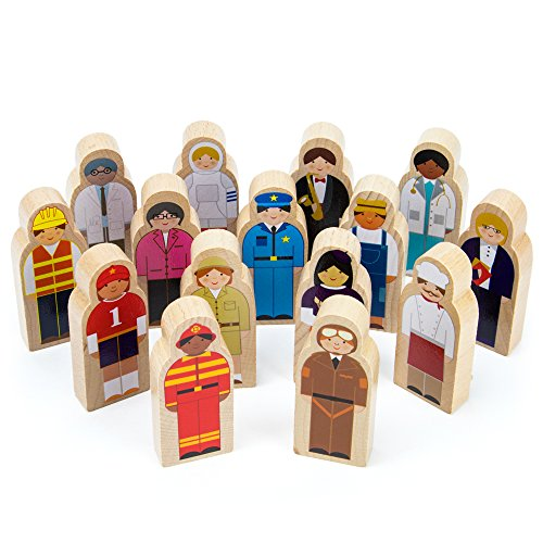 Imagination Generation Little Professionals Wooden Character Set (15 pieces)