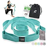 fitter's niche Yoga Stretch Strap, Non Elastic Exercise Band with 10 Loops Adjustable for Stretching Rehabilitation Flexibility Hamstring Physical Therapy Recovery, Free Carry Bag and Workout Guide