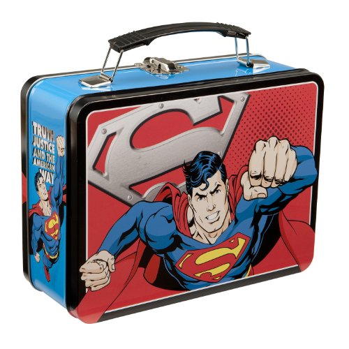 Superman Man of Steel Large Lunch Box – Tin Tote