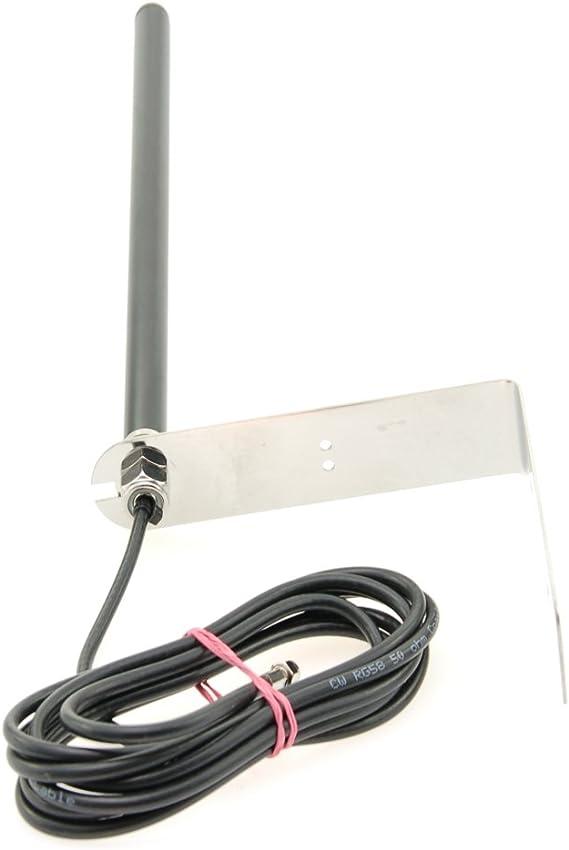 Alda PQ Antena para Montaje en Pared for 4G (LTE), 3G (UMTS), 2G (gsm), con SMA/M Enchufe y 2,5m Cable 2,2 dBi Ganancia