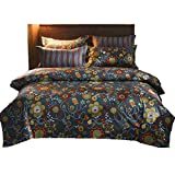 GOOFUN-D32Q Duvet Cover Bedding Set 3pcs Lightweight Microfiber Well Designed 1 Duvet Cover 2 Pillow Shams, Comfortable, Breathable, Soft, Extremely Durable,Full/Queen Size