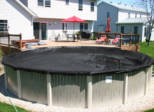 Deluxe plus 10 year oval above ground swimming pool covers - Above ground swimming pool covers reviews ...