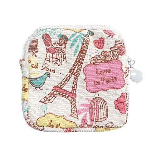 think ECO Menstrual Liner Pads Pouch, Sanitary Napkins Bag, Secret & Cuty (Pouch_Paris) Similar Color Available