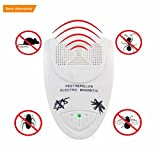 Ultrasonic Pest Repeller, Emwel Home Indoor Pest Control Extra Effective Plug In Electronic Mosquito Repellent with Night Light for Rodents Insects Mice Bugs Roaches Flies Spiders Lizards