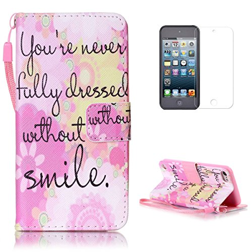 Wallet Case For Apple iPod touch 5/6 (Pink) - 8